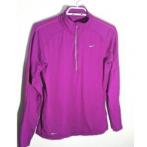 Purple Nike Dri-fit Long Sleeve  Half Zip M